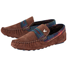Buy Lyle & Scott Suede Moccasin Slippers, Brown Online at johnlewis.com