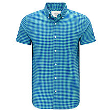 Buy John Lewis Short Sleeve Oxford Bi-Colour Shirt, Jade Online at johnlewis.com