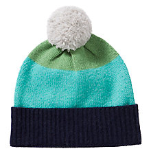 Buy Donna Wilson for John Lewis Boys' Stripe Bobble Hat, Blue/Multi Online at johnlewis.com