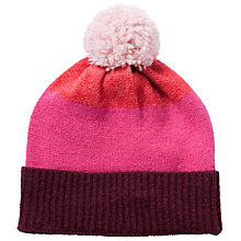 Buy Donna Wilson for John Lewis Girls' Stripe Bobble Hat, Pink/Multi Online at johnlewis.com