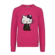 Buy Barbour Girls' Hello Kitty Jumper, Pink Online at johnlewis.com