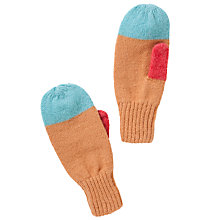 Buy Donna Wilson for John Lewis Colour Block Mittens, Tan/Multi Online at johnlewis.com