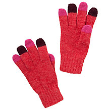 Buy Donna Wilson for John Lewis Girls' Colour Tip Gloves, Red/Multi Online at johnlewis.com