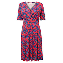 Buy East Julia Print Jersey Dress, Coral Online at johnlewis.com
