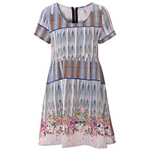 Buy True Decadence Floral Print Smock Dress, Multi Blue Online at johnlewis.com