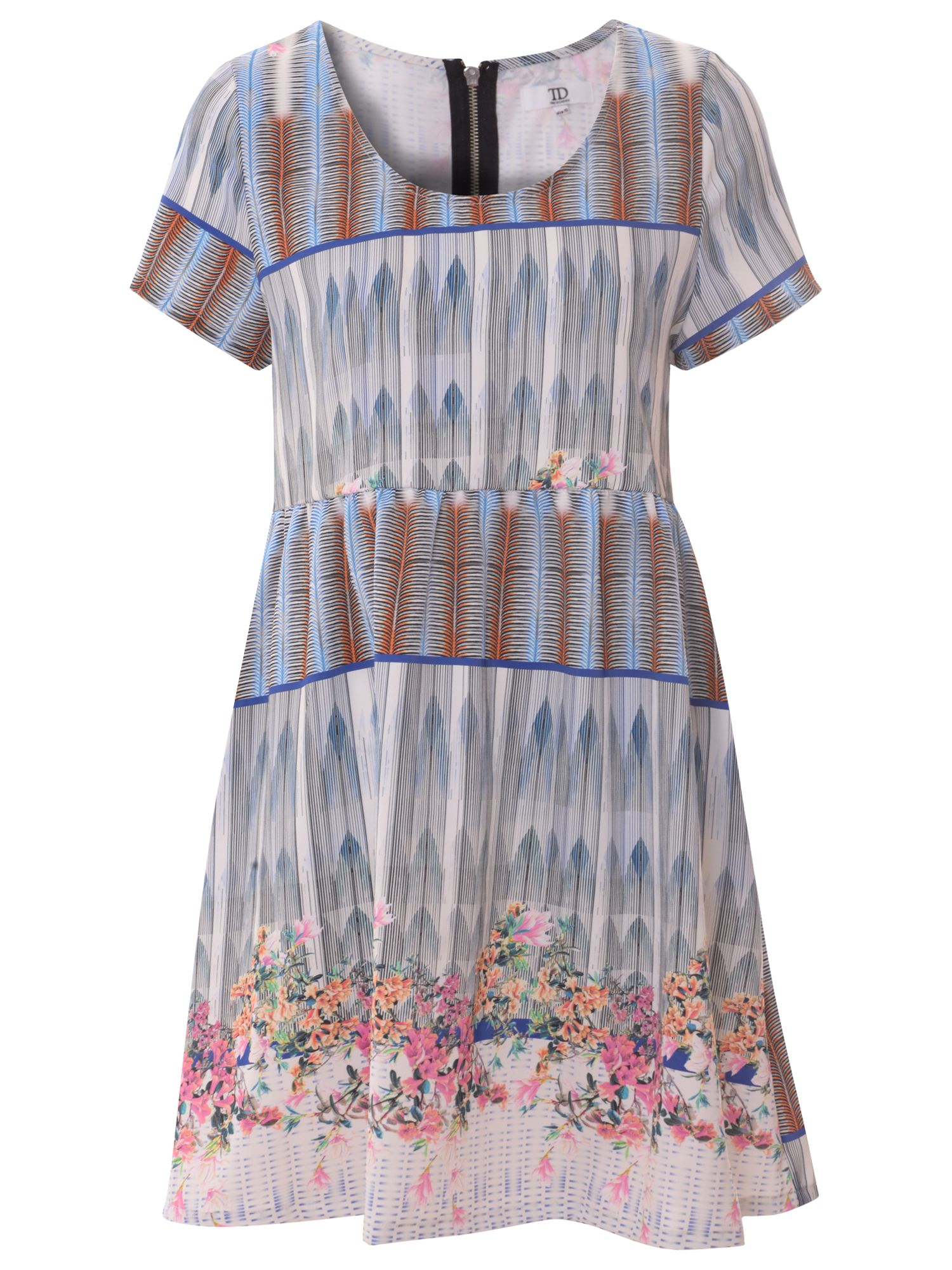 true decadence floral print smock dress multi blue, true, decadence, floral, print, smock, dress, multi, blue, true decadence, 8|14|12|18|10|16, clearance, womenswear offers, womens dresses offers, women, womens dresses, special offers, 1599221
