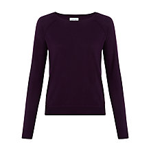 Buy Jigsaw Contrast Stitch Raglan Sweater Online at johnlewis.com