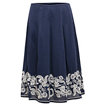 Buy East Embroidered Border Skirt, Ink Online at johnlewis.com