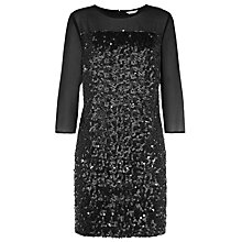 Buy Kaliko Leatherette Sequin Tunic, Black Online at johnlewis.com