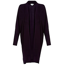 Buy Jigsaw Longline Cardigan, Dark Purple Online at johnlewis.com