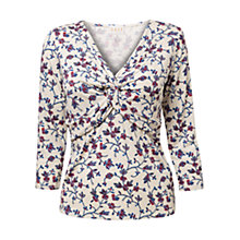 Buy East Suzi Twist Jersey Top, Pearl Online at johnlewis.com