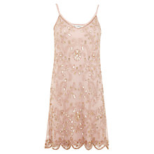 Buy Miss Selfridge Embellished Cami Dress, Nude Online at johnlewis.com