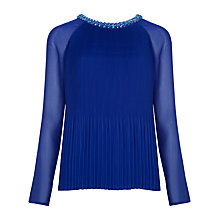 Buy Ted Baker Pleated Lovina Top Online at johnlewis.com