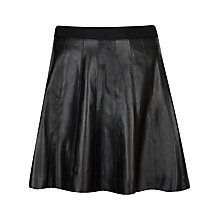Buy Ted Baker Qiana Leather Panel Skirt, Black Online at johnlewis.com