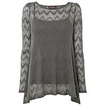 Buy Phase Eight Zelda Zig Zag Top, Charcoal Online at johnlewis.com