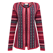 Buy East Heidi Fairisle Cardigan, Coral Online at johnlewis.com