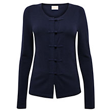 Buy East Knot Button Detail Cardigan, Ink Online at johnlewis.com