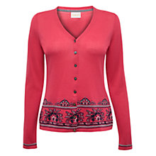 Buy East Jacquard Cardigan, Coral Online at johnlewis.com