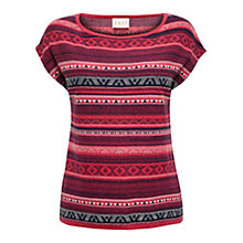 Buy East Heidi Fairisle Jumper, Coral Online at johnlewis.com
