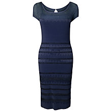 Buy Phase Eight Beth Bugle Bead Dress, Navy Online at johnlewis.com