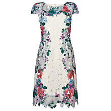 Buy Phase Eight Garland Dress, White Online at johnlewis.com