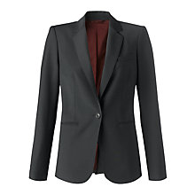 Buy Jigsaw London Fit Gaberdine Jacket, Grey Online at johnlewis.com