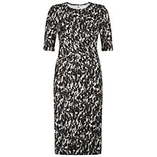 Buy Hobbs Water Print Dress, Black Stone Online at johnlewis.com