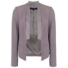 Buy French Connection Emmeline Crepe Jacket, Grey Otter Online at johnlewis.com