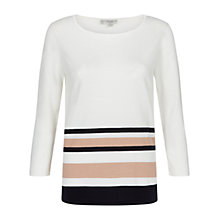 Buy Hobbs Shelby Sweatshirt, Ivory/Multi Online at johnlewis.com
