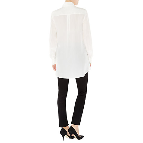 Buy Hobbs Painswick Blouse, Ivory Online at johnlewis.com