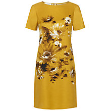Buy Hobbs Invitation Summer Bouquet Dress, Golden Yellow Online at johnlewis.com