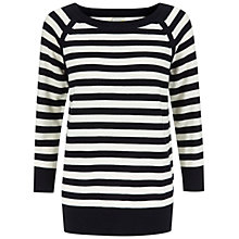 Buy NW3 by Hobbs Mia Sweatshirt, Navy/White Online at johnlewis.com