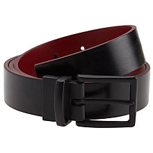 Buy Kin by John Lewis Reversible Belt, Black/Red Online at johnlewis.com