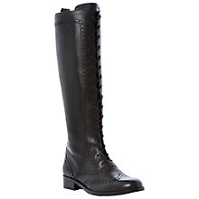 Buy Bertie Teddingdon Leather Lace Up Long Boots Online at johnlewis.com