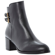 Buy Dune Nima Leather Ankle Boots, Black Online at johnlewis.com