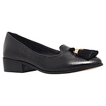 Buy Carvela Laura Lizard Tassel Trim Loafers, Black Online at johnlewis.com
