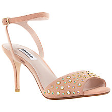 Buy Dune Hepburnn Suede Stiletto Sandals, Nude Online at johnlewis.com
