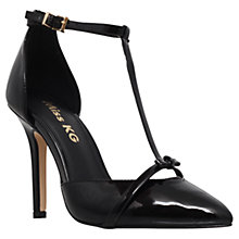 Buy Miss KG Anja T-Bar Stiletto High Heel Court Shoes, Black Online at johnlewis.com