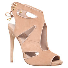 Buy KG by Kurt Geiger Hattie High Heel Suede Sandals, Nude Online at johnlewis.com