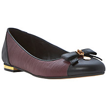 Buy Dune Montee Reptile Pumps, Burgandy Online at johnlewis.com