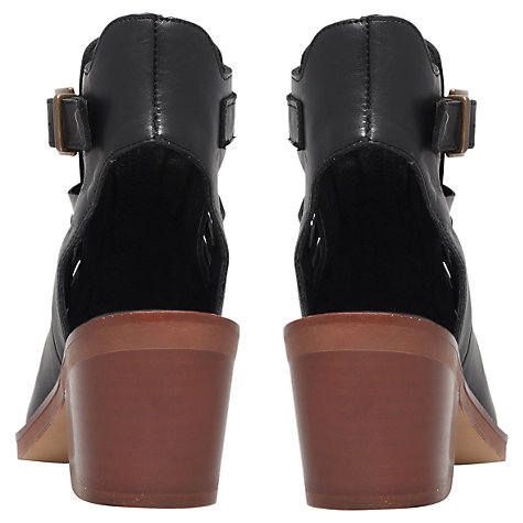 Buy KG by Kurt Geiger Leather Sapphire Cut-Out Heel Ankle Boots, Black Online at johnlewis.com