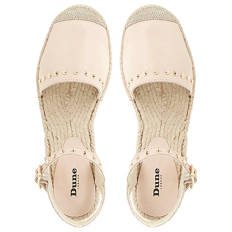 Buy Dune Joka Leather Espadrilles, Nude Online at johnlewis.com
