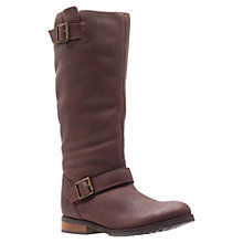 Buy Miss KG Brandy Low Flat Heel Buckle Trim Leather Calf Boots Online at johnlewis.com