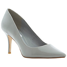 Buy Dune Alina Patent Stilettos, Grey Online at johnlewis.com