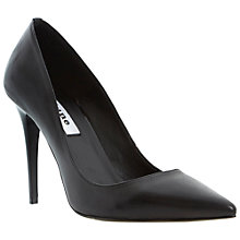 Buy Dune Azura Leather Court Shoes, Black Online at johnlewis.com