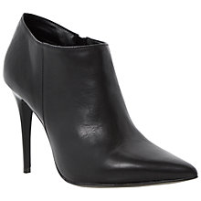 Buy Dune Avril Leather Ankle Boots, Black Online at johnlewis.com