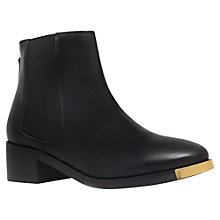 Buy KG by Kurt Geiger Shadow Leather Ankle Boots, Black Online at johnlewis.com