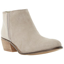 Buy Dune Penelope Mix Suede and Leather Low Heel Ankle Boots Online at johnlewis.com