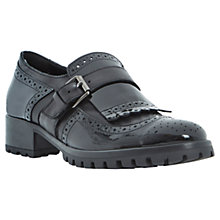 Buy Bertie Lordes Leather Low Heeled Buckled Brogues, Brogues Online at johnlewis.com