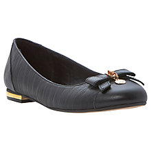 Buy Dune Montee Reptile Pumps, Black Online at johnlewis.com